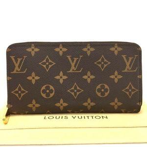 Louis Vuitton Monogram Zippy Zip Wallet +Dust Bag